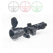 2-6x32 AOE Illuminated Scope Red Green Blue Mil-dot Sight Rifle Scope Fits 20mm
