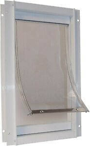 Ideal Pet Products Deluxe Aluminum Pet Door with Telescoping Frame, White
