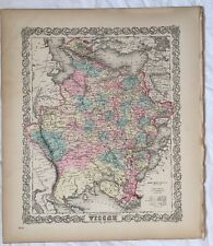 RUSSIA No 21, Antique Atlas Map 1855 Colton World Maps +