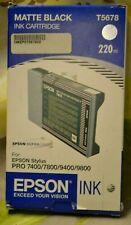 T5678 T6128 Matte Black  Ink Epson  7800 9800 7880 9880 Genuine 220ml Date 2008