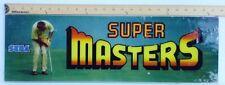 ARCADE GAME UPPER MARQUEE ORIGINAL SUPER MASTERS by Sega