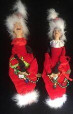 Katherine's Collection Wayne Kleski Retired Eula & Mae Christmas Ornaments NOS