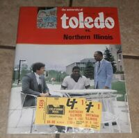 1982 TOLEDO/NORTHERN ILLINOIS COLLEGE FOOTBALL PROGRAM BOOK W TWO TICKETS