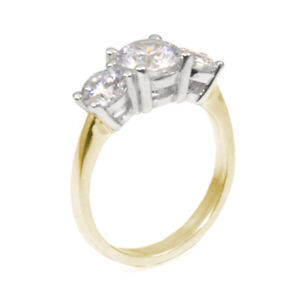 Trilogy Engagement Ring 2.20ct Diamond Unique in 18ct Gold Fully UK Hallmarked