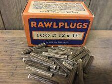 Verpackung 100 NOS Original Faser Dübel 3.8cm x 12 Rawlpugs Vintage