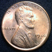 1946 S Lincoln Wheat Penny One Cent Uncirculated BU Copper Coin from Roll