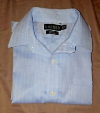 Ralph Lauren  Mens Long Sleeve Button UP Dress Shirt Size 15 1/2  32/33 slim fit