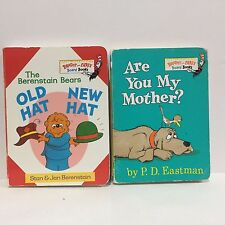 2 PC Lot Bright & Early Board Are You My Mother Berenstain Bears Dr. Seuss 280