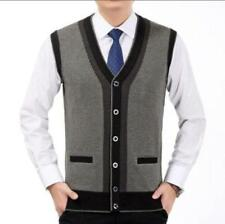 New Men Knitted Sweater Vest Sleeveless Casual Warm Waistcoat Jacket Cardigan