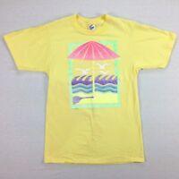 vtg NOS Jerzees Beach T-Shirt MEDIUM Chillwave Vaporwave Surf Skate 80s 90s USA
