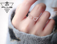 Women's Angel Wing Crystal Ring Engagement Wedding Adjustable Ring Jewelry Gift