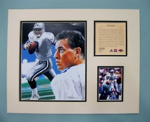Dallas Cowboys TROY AIKMAN 1997 NFL Football 11x14 MATTED Kelly Russell Print