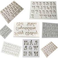 Alphabet Letter Silicone DIY Mould Biscuit Cutter Fondant Cake Decoration Mold