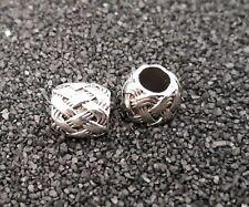 H43 2 Herz Beads Großloch Perlen Paracord Lanyard Armband Großlochperlen H40