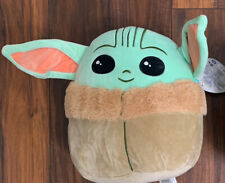 "Squishmallow 10"" BABY YODA Grogu Star Wars The Mandalorian The Child Disney"