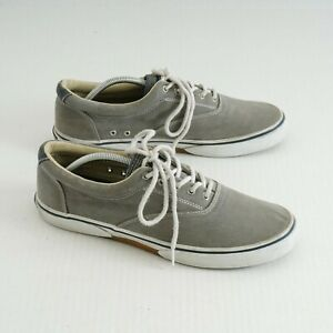 Sperry Top Sider Mens Halyard CVO Sneakers Size 11.5 M Grey Canvas 1772706