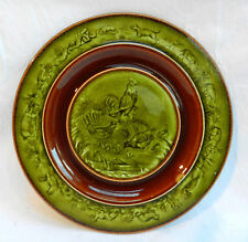 Antique Choisy Le Roi Faience 'Farmyard' Plate 1860 - 1900