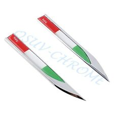 Auto Door Garnish 3D Italy Flag Blade Emblem Badge Sticker Decal Accessories