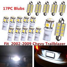 17x Ultra Bright LED Lights Interior Package Kit For 2002-2009 Chevy Trailblazer