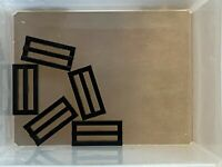 LEGO Parts - Black Tile 1 x 2 Grille w Bottom Groove - No 2412b - QTY 5