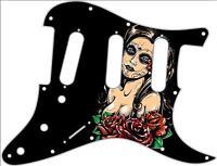 Stratocaster Pickguard Custom Fender SSS 11 Hole Guitar Pick Guard Lost Soul