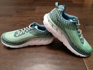 HOKA ONE ONE Clifton 5 Lichen/Storm Blue US 9 Women's