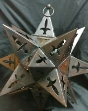 Hanging Multi Point FUMAT metal Star Candle Lantern  Art Decor for indoor Light
