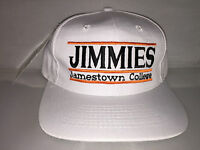Vtg Jamestown College Jimmies Snapback hat cap rare 90s NCAA College THE GAME og