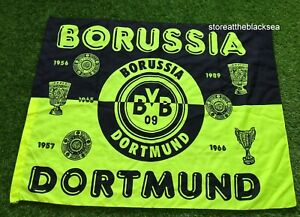 BORUSSIA DORTMUND FOOTBALL SOCCER FLAG BANNER STANDARD YELLOW GREEN BLACK