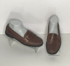 Cole Haan Douglas Brown Leather Mens Size 9.5 Slip On Penny Loafers Shoes 01462