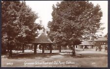 Grammar School & Old Pump, Oakham. Pre-1914 Real Photo Postcard. Free Post