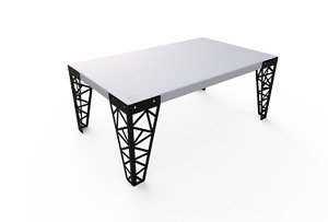 Luxury Modern Rectangle Art Decor Coffee Table Top Living Room Indoor Geometric