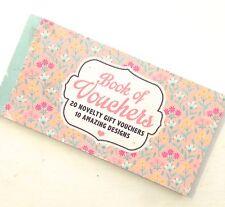 Voucher Book 20 Novelty gift vouchers mother sister grandma girlfriend day