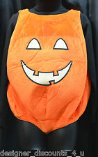 "Soft Pumpkin Halloween Costume Body Suit Adult S Child XL 27"" long for 22"" Torso"