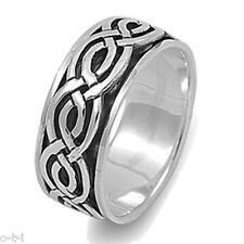 Men or Woman Unisex Infinity Crossover Celtic Spinner Sterling Silver Ring 9 mm