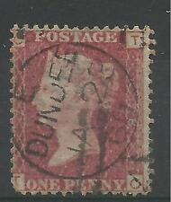 1858 1d Red Plate Number (TC) Plate 78 with CDS Cancel, good to fine used.