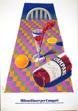 Campari Art Milton Glaser signed 1992 ORIGINAL VINTAGE ITALIAN DRINKS POSTER