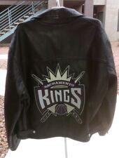 Jeff Hamilton Leather Jacket Sacramento Kings NBA Basketball Men's Large
