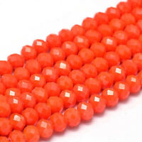 15 Jade Perlen 8mm Rot Rondelle Facettiert Halbedelstein Schmuck Basteln G121