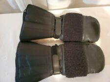 Vintage?Wells Lamont Leather,nylon,poly,wool Snowmobile? Mittens Black, liner Xl