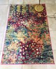 Turkish Pink Blue Multi Boho Rug Unique Looms Barcelona Collection Made Turkey