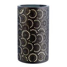 Essential Oil Burner - Retro Circles - Porcelain Aromatherapy Tea Light Candle