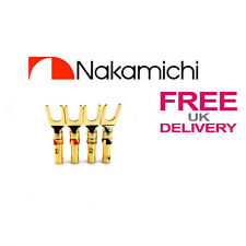 4x Quality Nakamichi Spade Fork connectors 24k Gold plated connector **UK**
