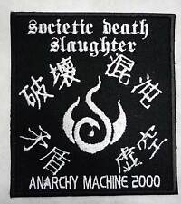 Societic Death Slaughter embroidred patch b/w AGE Acrostix GISM Effigy Hellshock