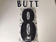 Manchester United Shirt Lextra Felt Name Set BUTT 8 Black Away Print Letters