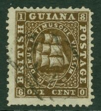 SG 41 British Guiana 1860-63. 1 cent brown, thin paper, perf 12. Very fine...