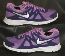New listing Nike Revolution 2 purple fabric oxfords lace-ups shoes size Us 4.5 Y