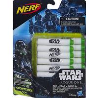 STAR WARS Rogue One NERF Ammo Dart Refill 14pcs Gun Glow Strike FOAM DART NEW