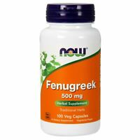 Now Foods FENUGREEK, 500 mg, 100 VCaps Powerful Herbal Supplement