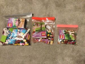 3 X Horse Themed Lego Friends Sets For Sale 100% Complete